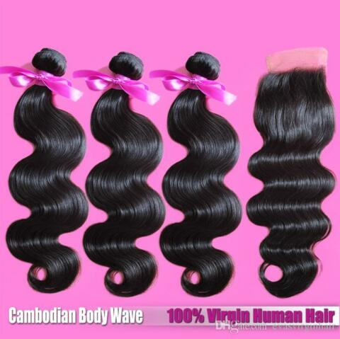CAMBODIAN VIRGIN HUMAN HAIR 9A WEFT 3BUNDLE SILK BASE CLOSURE 350G SAME DAY SHIP