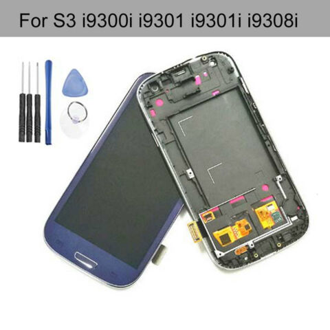 LCD DISPLAY TOUCH DIGITIZER FRAME FOR SAMSUNG GALAXY S3 NEO I9301 I9301I BLUE