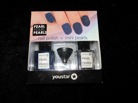 NAGELLACK SET NAIL POLISH MINI PEARLS YOUSTAR AUS DEN USA BLAU