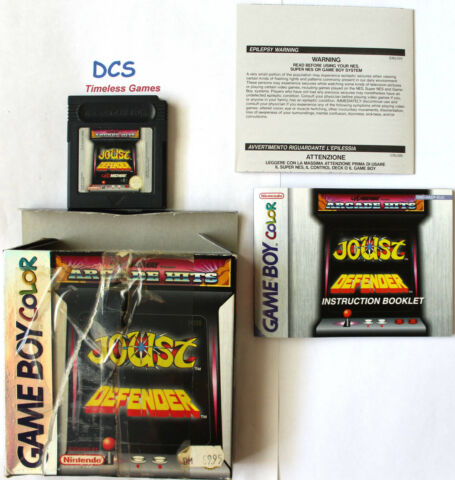ARCADE HITS JOUST DEFENDER NINTENDO GAME BOY COLOR 1999 AUCH F R ADVANCE