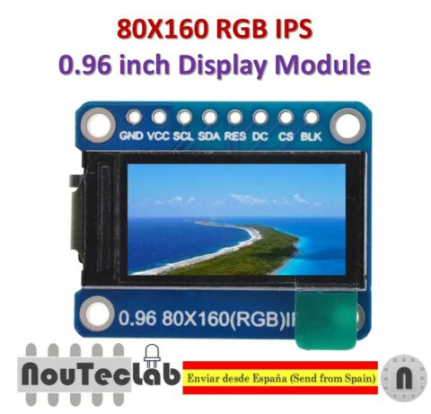 0 96 INCH 7P SPI HD TFT ST7735 DRIVE IC 80 160 65K FULL COLOR LCD DISPLAY