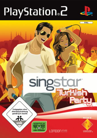 PS2 SINGSTAR TURKISH PARTY SONY PLAYSTATION 2 2008 DVD BOX