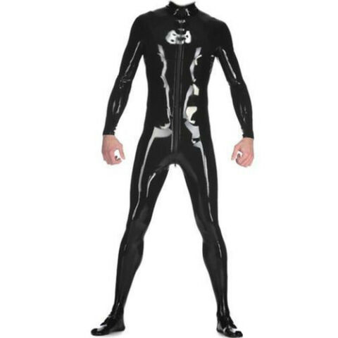100 LATEX CATSUIT GANZANZUG CATSUIT SPORT BODYSUIT SPORTS TIGHTS SUIT S XXL