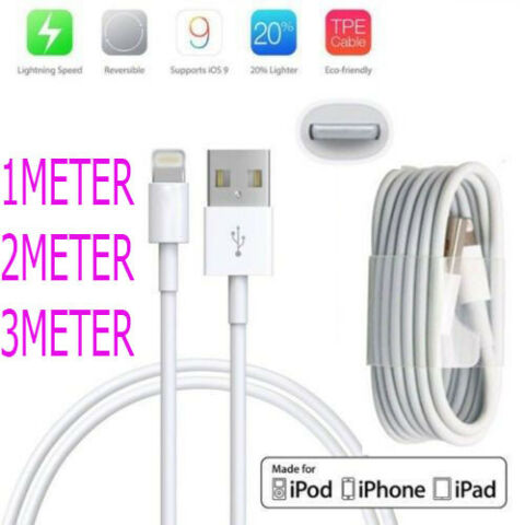 USB LIGHTNING CHARGER DATA SYNC CABLE APPLE IPHONE 8 7 7 PLUS 6 6 PLUS 5 5C 5S