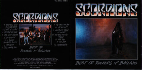 SCORPIONS BEST OF ROCKERS BALLADS RHYTHM OF LOVE BIG CITY NIGHTS UVM