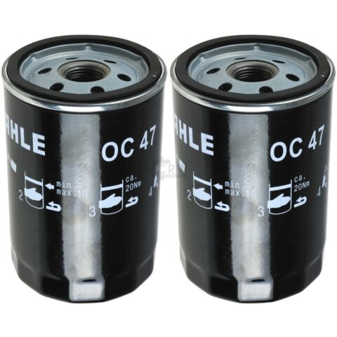 2X MAHLE KNECHT LFILTER OC 47 OIL FILTER
