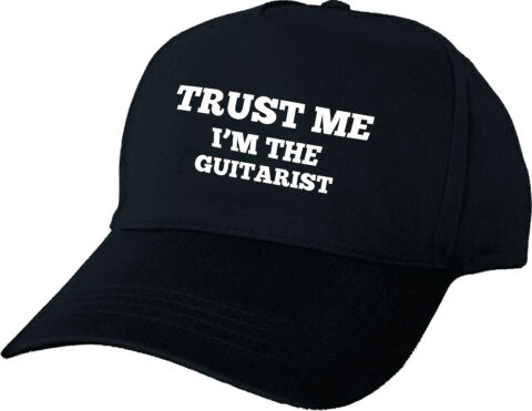 TRUST ME I M THE GUITARIST PERSONALISED BASEBALL CAP GIFT BIRTHDAY