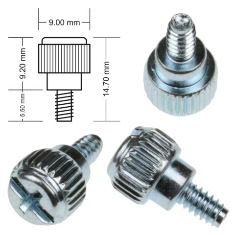 PACK OF 6 SILVER PC CASE THUMB SCREWS 6 32 COMPUTER CASE FIXING SCREW