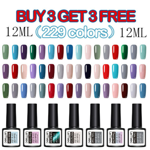 LEMOOC 12ML NAGEL GELLACK NAIL ART UV GEL POLISH SOAK OFF GEL UV NAGELLACK