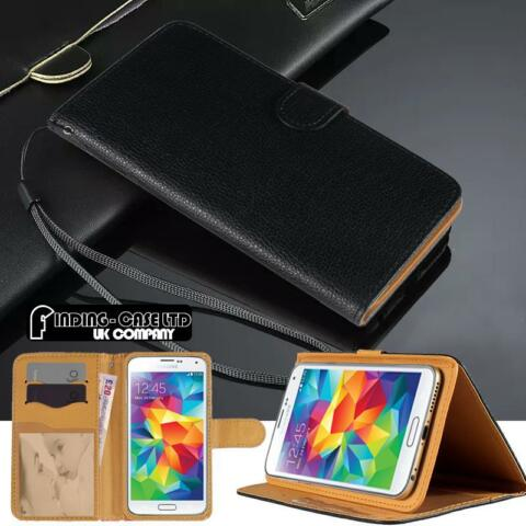 BLACK FLIP COVER STAND WALLET LEATHER CASE FOR VARIOUS SAMSUNG GALAXY S SERIES