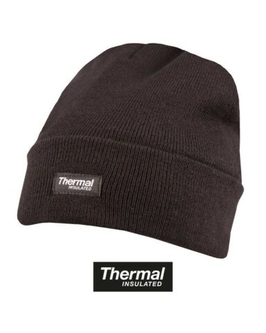 3M BLACK QUALITY BOB HAT BEANIE THINSULATE THERMAL LINED POLICE SECURITY