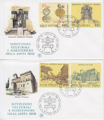VATIKAN FDC 848 851 AUF 2 FDCS MIT SST 1984 FIRST DAY COVER