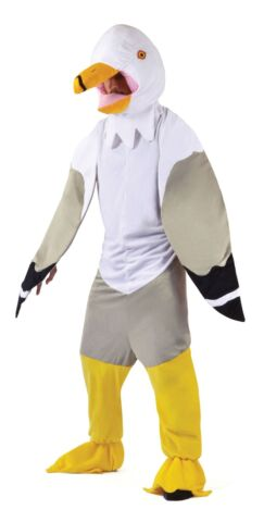 ADULT UNISEX ANIMAL FANCY DRESS PARTY OUTFIT SEAGULL BIG HEAD COSTUME