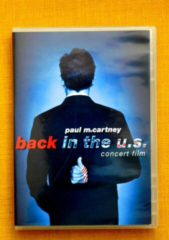PAUL MCCARTNEY BACK IN THE U S KONZERT FILM DVD