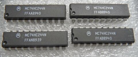 74HC244 OCTAL BUFFERS AND LINE DRIVERS WITH 3 STATE OUTPUTS DIP 20 4 ST CK