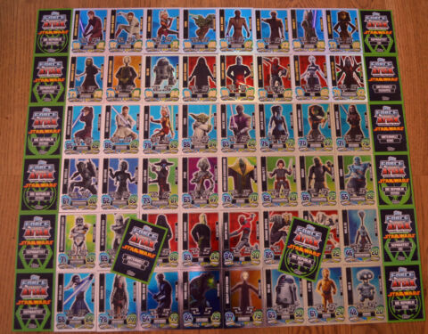 FORCE ATTAX CLONE WARS SERIE 5 FORCE MEISTER AUSSUCHEN TOPPS STAR WARS KARTEN