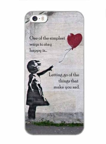 BANKSY INSPIRED GIRL WITH BALLOON QUOTE PHONE CASE FOR IPHONE I4 I5 I6 X SAMSUNG