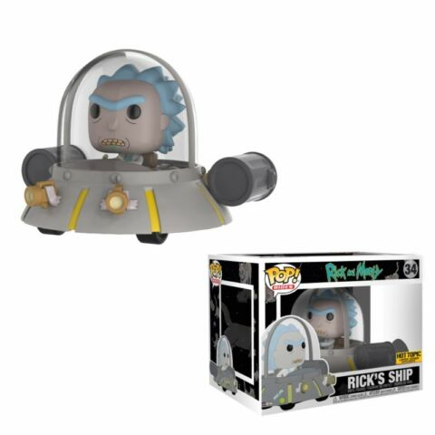 RICKS SHIP SPACE CRUISER RICK AND MORTY POP RIDES 34 VINYL FIGUR FUNKO