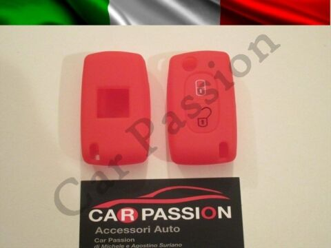 SCHALE SCHL SSEL COVER PEUGEOT SILIKON 407 408 307 308 107 207 ROT 2 BUTTONS