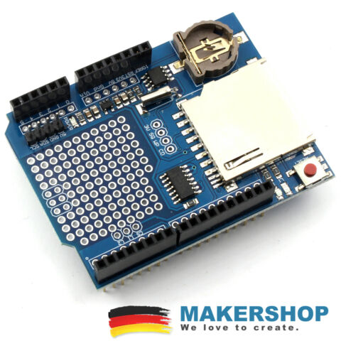 XD 204 XD 05 DATA LOGGER SHIELD ARDUINO UNO ERWEITERUNG SD KARTE RTC REAL TIM