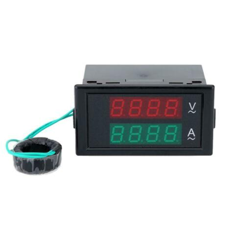 DUAL LED DIGITAL VOLTMETER AMMETER VOLTAGE AMPS POWER METER AC 300V 100A