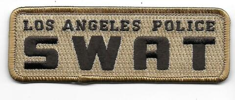 USA LOS ANGELES SWAT POLIZEI AUFN HER PATCH US POLICE