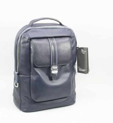 NAVA COURIER LEATHER MENS BACKPACK LEDER HERREN RUCKSACK BLAU CL070B 305