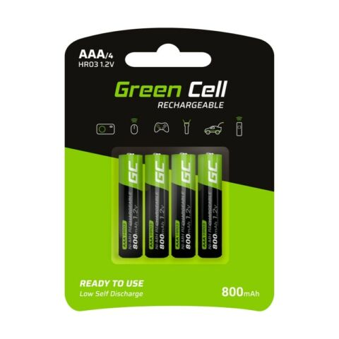 GREEN CELL 4X AAA HR03 800MAH AKKU