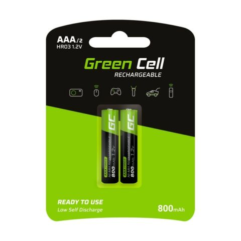 GREEN CELL 2X AAA HR03 800MAH AKKU