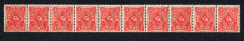 BRIEFMARKEN 10 ST CK 10ER BLOCK DEUTSCHES REICH POSTHORN MI NR 192 1920 23 TOP