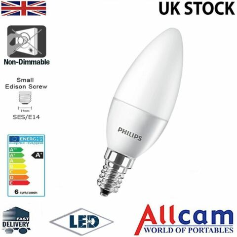PHILIPS 4W LED CANDLE E14 SMALL EDISON SCREW FROSTED WARM WHITE 250LM NEW EEK A