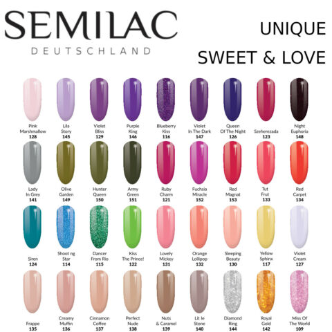 SEMILAC UV LED NAGELLACK 7ML GEL POLISH UV HYBRID UNIQUE UND SWEETS