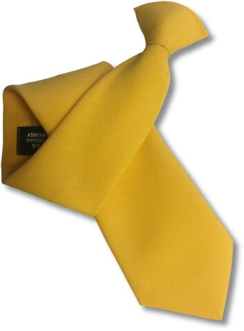 MATT YELLOW SECURITY GUARD OR BOUNCER CLIPPER CLIP ON SNAPPER UNIFORM TIE