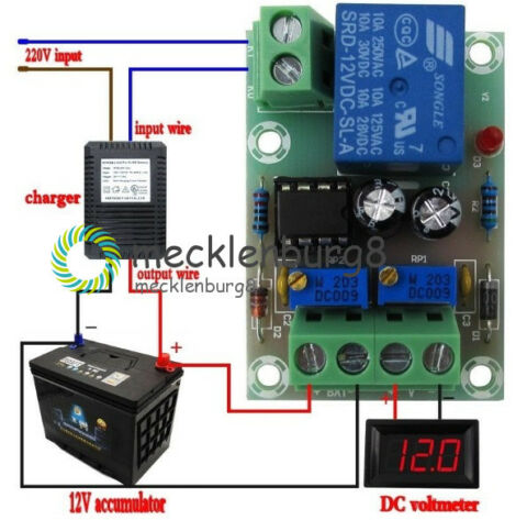 12V XH M601 CHARGER POWER CONTROL BOARD 50X32X18MM POTENTIOMETER ADJUSTMENT