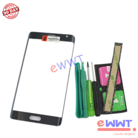 BLACK FRONT SCREEN GLASS LENS TOOLS FOR SAMSUNG GALAXY NOTE EDGE SM N915 ZVGS506