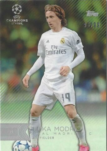TOPPS SHOWCASE CHAMPIONS LEAGUE 2015 16 GREEN 99