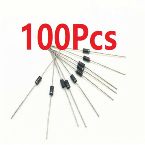100PCS NEW 1N4006 DIODE 1A 800V IN4006 DO 41 SILICON RECTIFIER DIODES