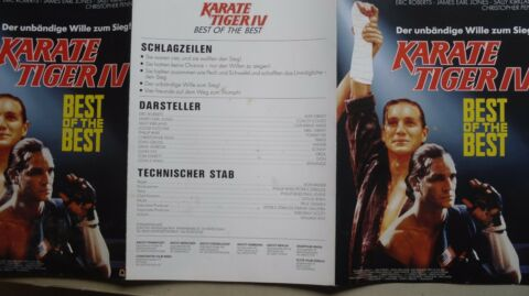 Q333 PRESSEINFO IM KARATE TIGER IV BEST OF THE BEST ERIC ROBERTS