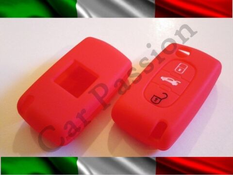 SCHALE SCHL SSEL COVER PEUGEOT SILIKON 407 408 307 308 107 207 ROT 3 BUTTONS