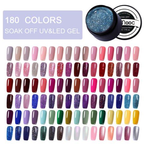 5ML LEMOOC UV GELLACK GEL NAGELLACK NACKT ROSA SOAK OFF UV GEL POLISH 180 COLORS