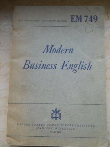 MODERN BUSINESS ENGLISH BY ROY DAVIS CLARENCE H LINGHAM AND WILLIAM H STONE
