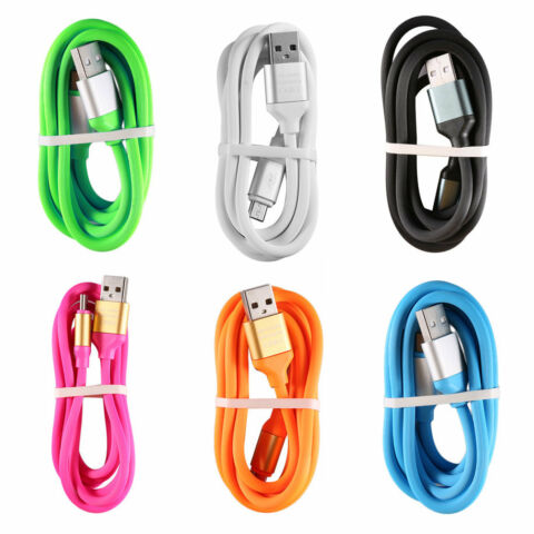 DURABLE BRIGHT COLOR 1 2M LONG MICRO USB DATA CHARGER CABLE FOR ANDROID XK