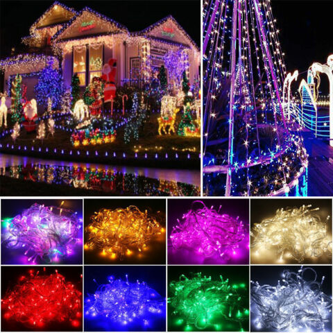 6 10 15 20M SOLAR POWERED COPPER WIRE OUTDOOR STRING FAIRY LIGHT XMAS WEDDING XL
