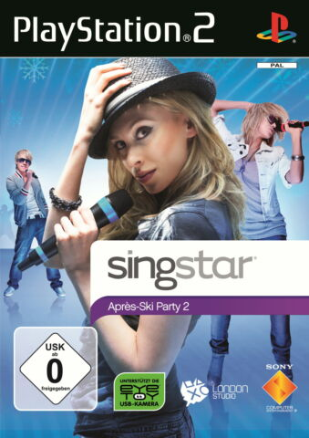 SINGSTAR APR S SKI PARTY 2 SONY PLAYSTATION 2 2010 DVD BOX