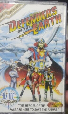 DEFENDERS OF THE EARTH ENIGMA 1990 C64 KASSETTE BOX TAPE MANUAL 100 OK