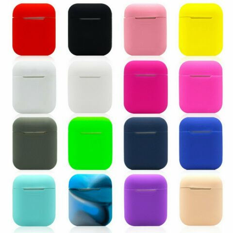 1PCS SILICONE BLUETOOTH EARPHONE CASE PROTECTIVE FOR AIRPODS CHARGING BOX ZD