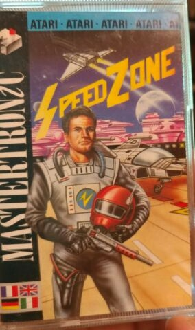 SPEED ZONE MASTERTRONIC 86 ATARI 800XL 130XE CASSETTE TAPE BOX MANUAL
