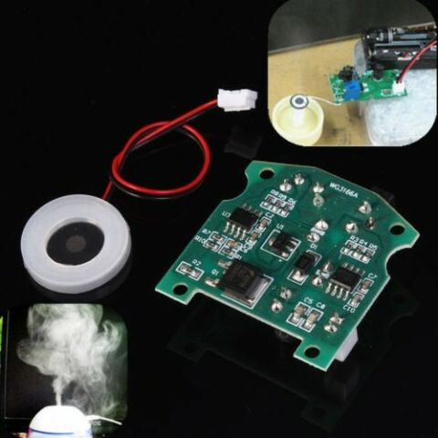 20MM 113KHZ ULTRASONIC MIST MAKER ATOMIZING FOGGER CERAMIC HUMIDIFIER W PCB NEU