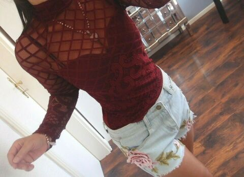 BODY SUIT XS S M NEU SHIRT CHIC NETZ SPITZE MUSTHAVE CATSUIT ROT BLOGGER TREND