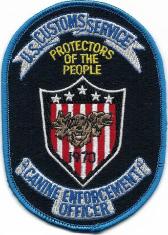 US CUSTOMS K 9 DHF OFFICER ZOLL STOFFABZEICHEN HUNDEF HRER POLICE PATCH POLIZEI